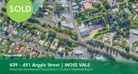 Development / Land commercial property sold at 439-445 Argyle Street Moss Vale NSW 2577