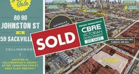 Development / Land commercial property sold at 80-90 Johnston Stree & 59 Sackville Street Collingwood VIC 3066