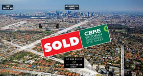 Development / Land commercial property sold at 112 High Street Kew VIC 3101