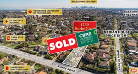 Development / Land commercial property sold at 1289 Burke Road Kew VIC 3101