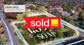 Development / Land commercial property sold at 1300-1302 Toorak Road Camberwell VIC 3124