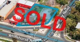 Development / Land commercial property sold at 173 Whitehorse Road Blackburn VIC 3130