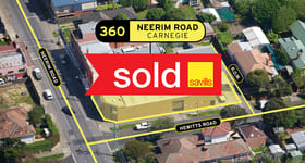 Development / Land commercial property sold at 360 Neerim Road Carnegie VIC 3163