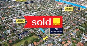 Development / Land commercial property sold at 91 McKinnon Road Mckinnon VIC 3204