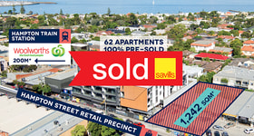 Development / Land commercial property sold at 427 Hampton Street Hampton VIC 3188