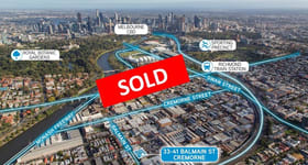 Development / Land commercial property sold at 33-41 Balmain Street Cremorne VIC 3121