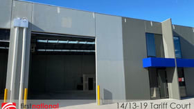 Factory, Warehouse & Industrial commercial property for lease at 14/13-19 Tariff Court Werribee VIC 3030