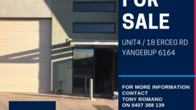 Factory, Warehouse & Industrial commercial property for sale at 4/18 Erceg Road Yangebup WA 6164