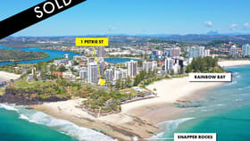 Development / Land commercial property for sale at 1 Petrie Street Coolangatta QLD 4225