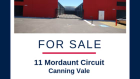 Factory, Warehouse & Industrial commercial property for sale at 11 Mordaunt Circuit Canning Vale WA 6155