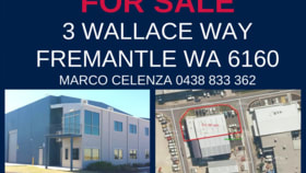 Factory, Warehouse & Industrial commercial property for sale at 3 Wallace Way Fremantle WA 6160