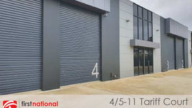 Factory, Warehouse & Industrial commercial property for sale at 4/5-11 Tariff Court Werribee VIC 3030