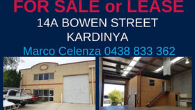 Factory, Warehouse & Industrial commercial property for sale at 14A BOWEN STREET Kardinya WA 6163