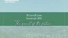 Development / Land commercial property for sale at 30 CARROLL LANE Greenvale VIC 3059