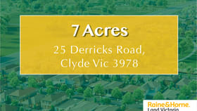 Rural / Farming commercial property for sale at 25 Derricks Road Clyde VIC 3978