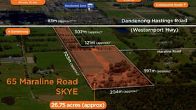 Rural / Farming commercial property for sale at 65 Maraline Road Skye VIC 3977