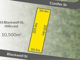 Development / Land commercial property for sale at 43-45 Blackwell Street Hillcrest QLD 4118