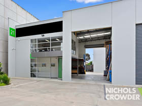 Factory, Warehouse & Industrial commercial property for sale at Unit 21/47 Wangara Road Cheltenham VIC 3192