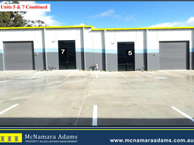 Factory, Warehouse & Industrial commercial property for sale at Units 5&7/46 Canavan Drive Beresfield NSW 2322