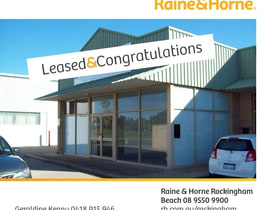 Showrooms / Bulky Goods commercial property for lease at 1/9 Robinson Road Rockingham WA 6168