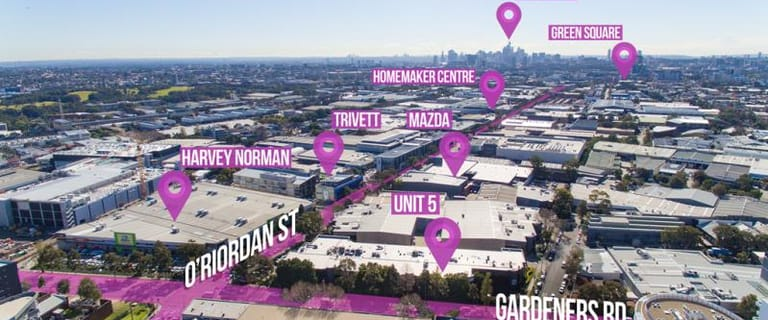 Industrial / Warehouse commercial property for lease at Unit 5/476 Gardeners Road Alexandria NSW 2015
