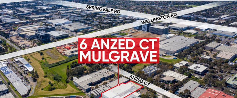 Factory, Warehouse & Industrial commercial property for lease at 6 Anzed Court Mulgrave VIC 3170