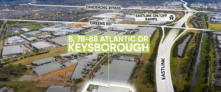 Factory, Warehouse & Industrial commercial property for lease at Warehouse B/78-88 Atlantic Drive Keysborough VIC 3173