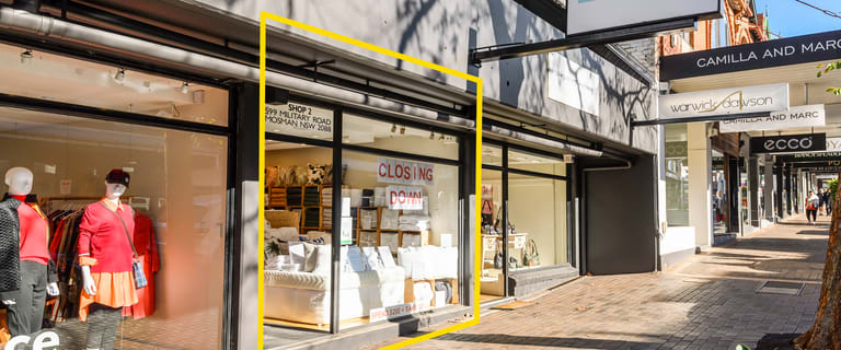 Shop & Retail commercial property for lease at 599 Military Road Mosman NSW 2088