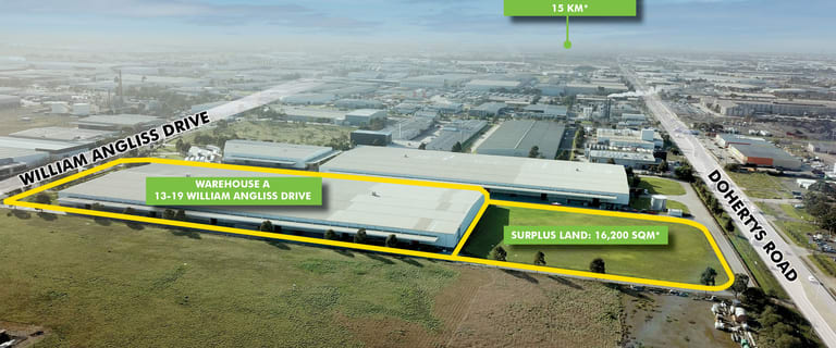 Factory, Warehouse & Industrial commercial property for lease at Warehouse A/13-19 William Angliss Drive Laverton North VIC 3026