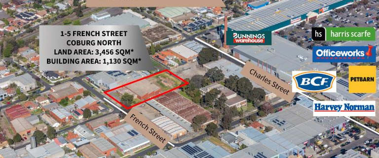 Industrial / Warehouse commercial property for sale at 1-5 French Street Coburg VIC 3058