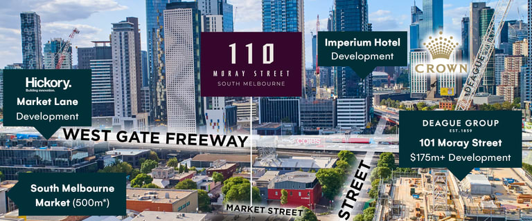 Development / Land commercial property for sale at 110 Moray Street South Melbourne VIC 3205