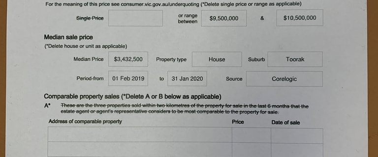 Development / Land commercial property for sale at 3, 3A & 5 Brookville Road Toorak VIC 3142