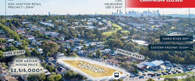 Development / Land commercial property for sale at 93 - 95 Earl Street Kew VIC 3101