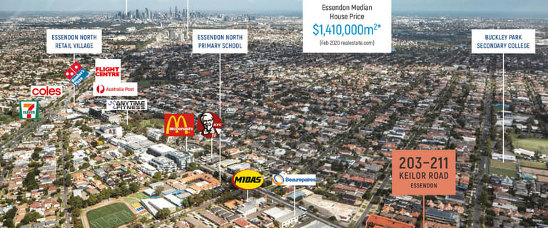 Development / Land commercial property for sale at 203-211 Keilor Road Essendon VIC 3040