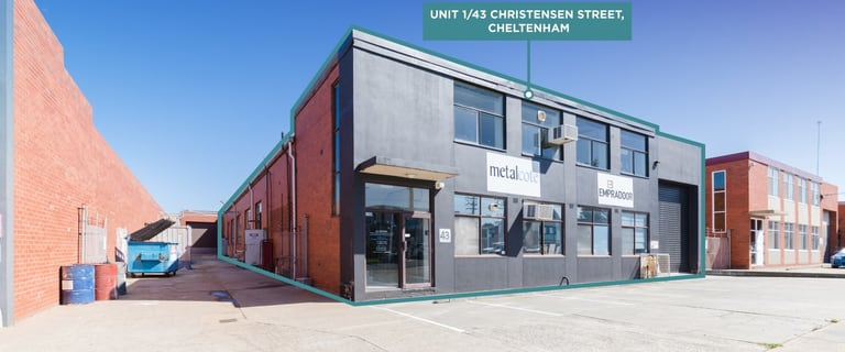 Industrial / Warehouse commercial property for sale at 1/43 Christensen  Street Cheltenham VIC 3192