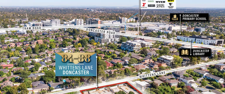 Development / Land commercial property for sale at 84-88 Whittens Lane Doncaster VIC 3108
