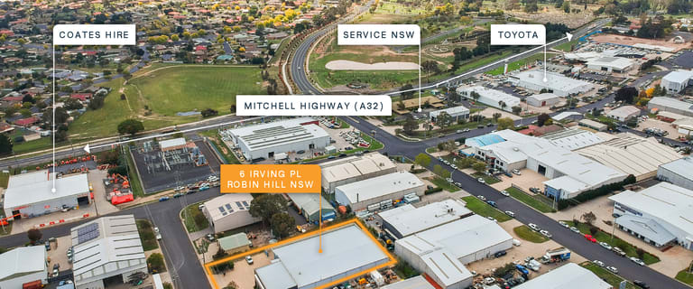Factory, Warehouse & Industrial commercial property for sale at 6 Irving Place Robin Hill NSW 2795