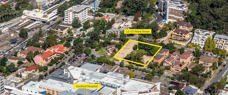 Development / Land commercial property sold at 11-15 Ward Street Gosford NSW 2250