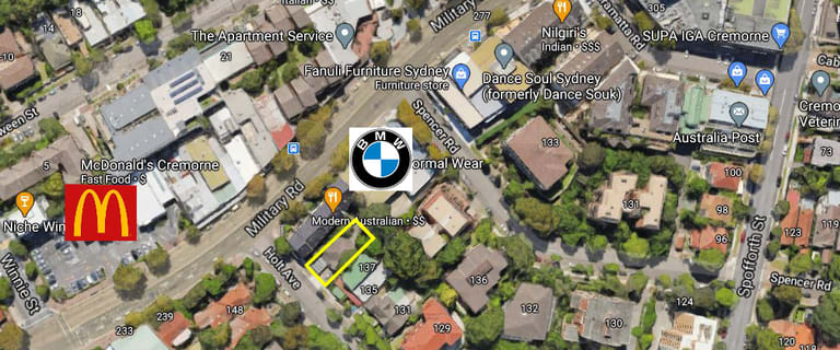 Development / Land commercial property sold at 139 Holt Avenue Cremorne NSW 2090