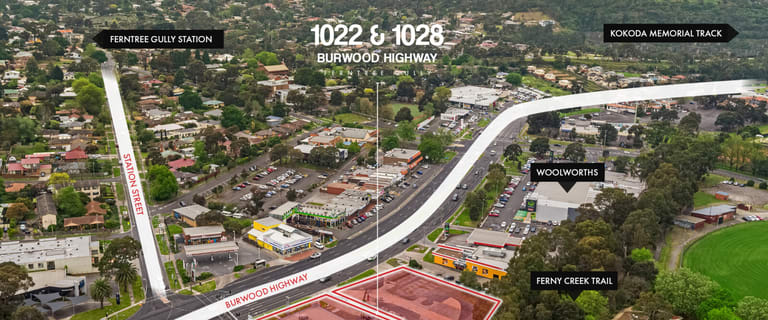 Shop & Retail commercial property for sale at 1022 & 1028 Burwood Highway Ferntree Gully VIC 3156