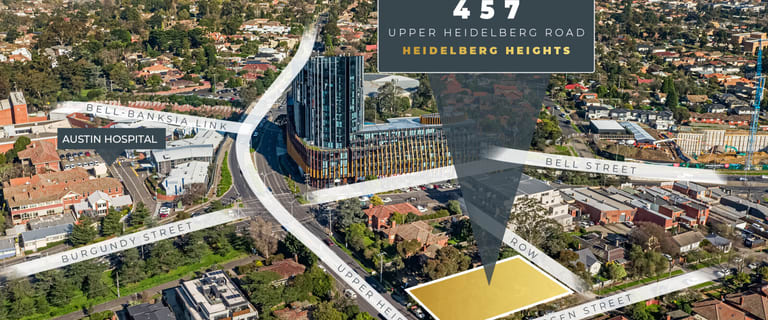 Development / Land commercial property sold at 457 Upper Heidelberg Road Heidelberg Heights VIC 3081