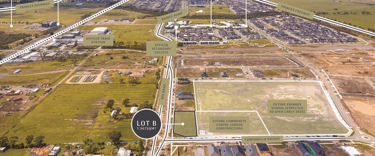 Development / Land commercial property for sale at Lot B on PS817602R Rix Road Officer VIC 3809