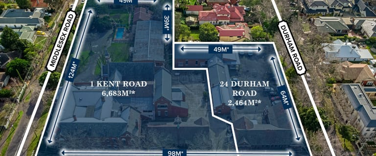 Development / Land commercial property for sale at 1 Kent Road & 24 Durham Road Surrey Hills VIC 3127