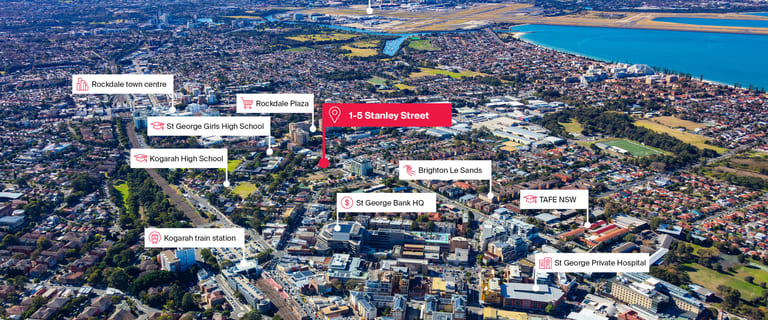Development / Land commercial property for sale at 1-5 Stanley Street Kogarah NSW 2217