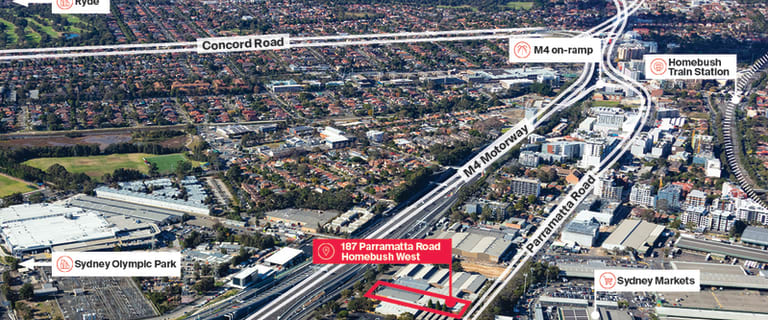 Factory, Warehouse & Industrial commercial property sold at 187 Parramatta Road Homebush West NSW 2140
