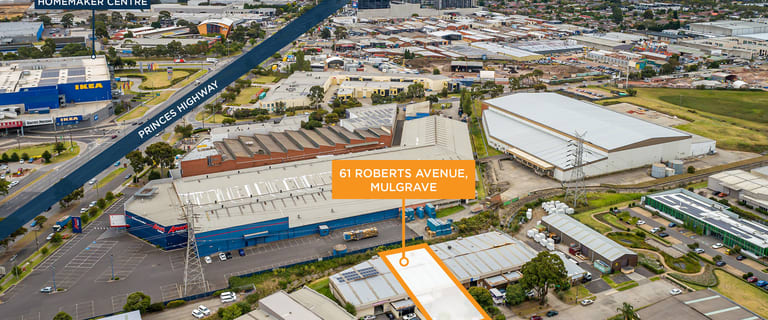 Factory, Warehouse & Industrial commercial property for sale at 61 Roberts Avenue Mulgrave VIC 3170
