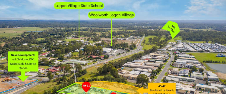 Factory, Warehouse & Industrial commercial property for sale at 49-55 Centenary Place Logan Village QLD 4207