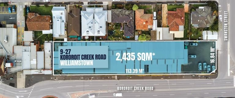 Development / Land commercial property for sale at 9-27 Kororoit Creek Road Williamstown VIC 3016