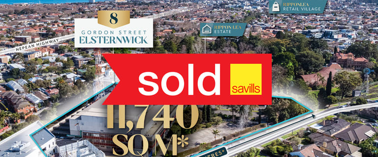 Development / Land commercial property sold at 8 Gordon Street Elsternwick VIC 3185