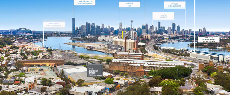 Factory, Warehouse & Industrial commercial property for sale at 43 Crescent Street Rozelle NSW 2039